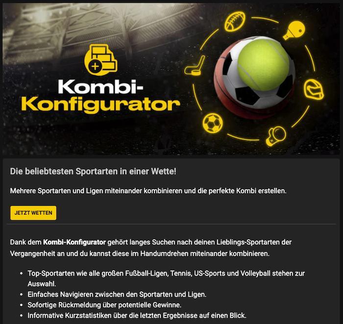 bwin Kombi Konfigurator