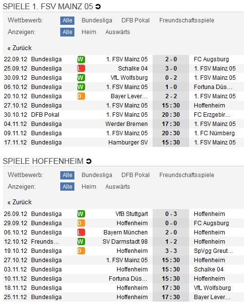 1. FSV Mainz - Hoffenheim