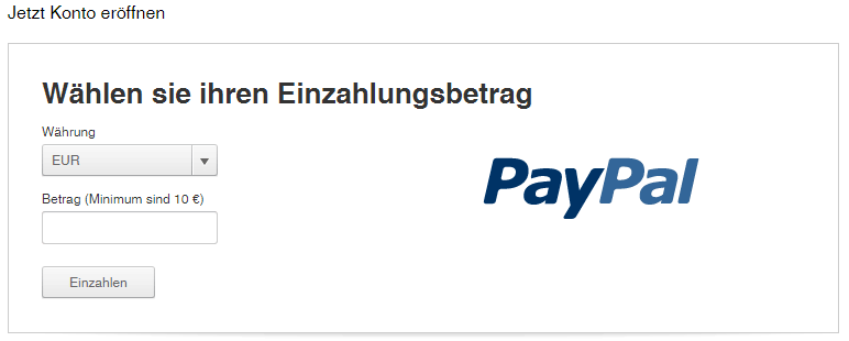 Tipico PayPal Registrierung