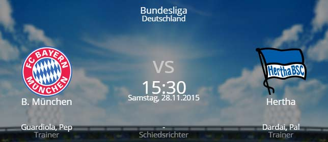 FC Bayern München - Hertha BSC Berlin 28.11.2015