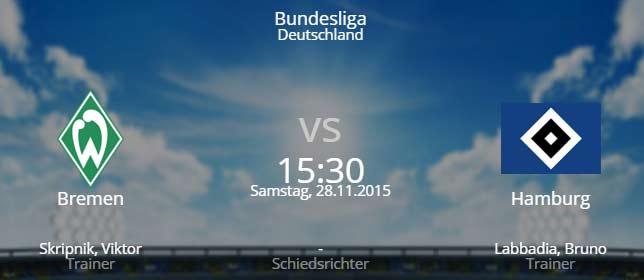 Werder Bremen - Hamburger SV 28.11.2015