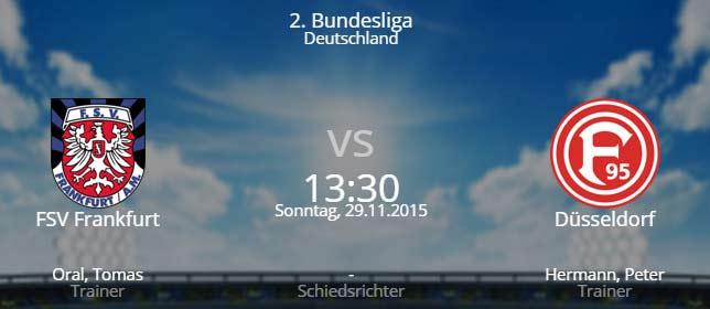 FSV Frankfurt – Fortuna Düsseldorf 29.11.2015 Tipp