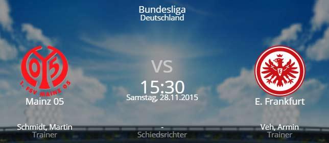 FSV Mainz 05 - Eintracht Frankfurt 28.11.2015 Tipp