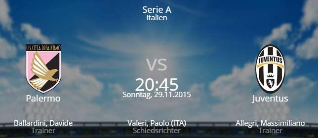 US Palermo - Juventus Turin 29.11.2015