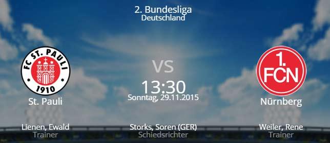 St. Pauli - 1. FC Nürnberg