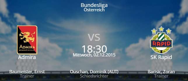 Admira Wacker - Rapid Wien 02.12.2015