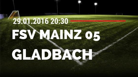 FSV Mainz 05 - Borussia M'gladbach 29.01.2016 Tipp