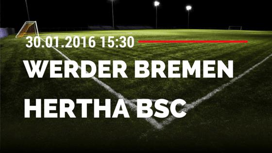 SV Werder Bremen - Hertha BSC Berlin 30.01.2016 Tipp
