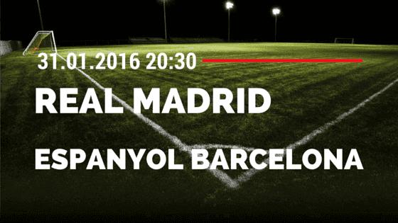 Real Madrid – Espanyol Barcelona 31.01.2016 Tipp