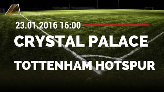 Crystal Palace – Tottenham Hotspur 05 23.01.2016 Tipp