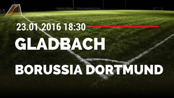 Borussia M'gladbach - Borussia Dortmund 23.01.2016 Tipp