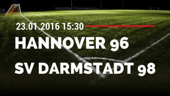 Hannover 96 - SV Darmstadt 98 23.01.2016 Tipp