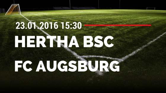 Hertha BSC Berlin - FC Augsburg 23.01.2016 Tipp