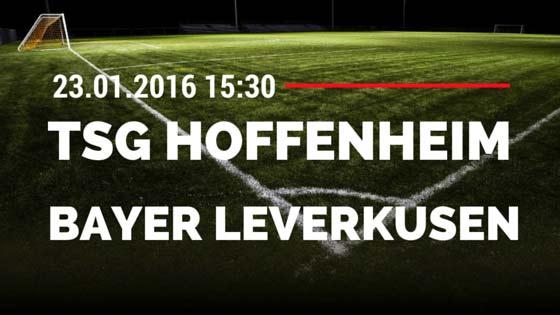 TSG Hoffenheim - Bayer 04 Leverkusen 23.01.2016 Tipp