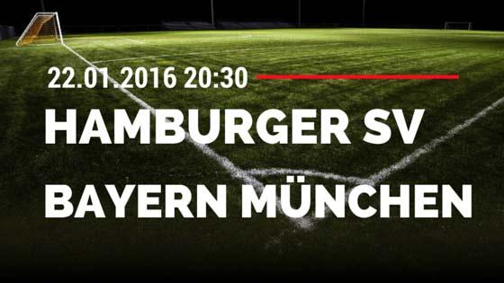 Hamburger SV - FC Bayern München 22.01.2016 Tipp