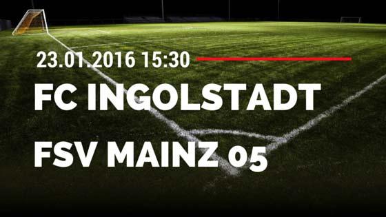 FC Ingolstadt 04 - FSV Mainz 05 23.01.2016 Tipp