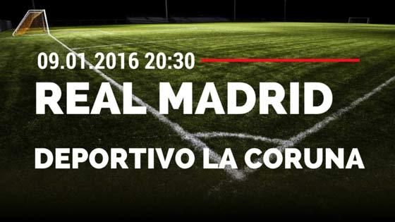 Real Madrid – Deportivo La Coruna 09.01.2016 Tipp