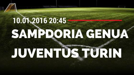 Sampdoria Genua – Juventus Turin 10.01.2016 Tipp