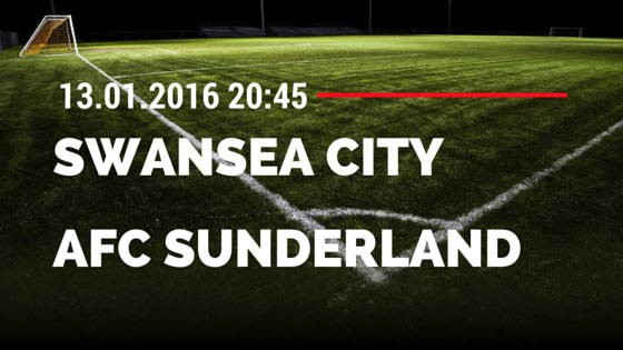 Swansea City - AFC Sunderland 13.01.2016 Tipp
