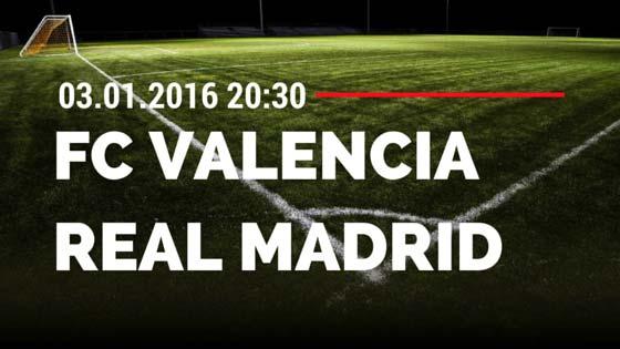 FC Valencia – Real Madrid 03.01.2016 Tipp