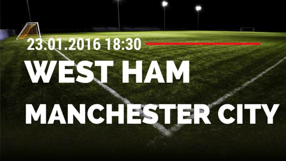 West Ham United – Manchester City 23.01.2016 Tipp
