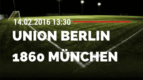 1. FC Union Berlin – TSV 1860 München 14.02.2016 Tipp