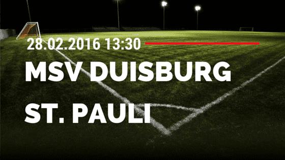 MSV Duisburg – FC St. Pauli 28.02.2016 Tipp