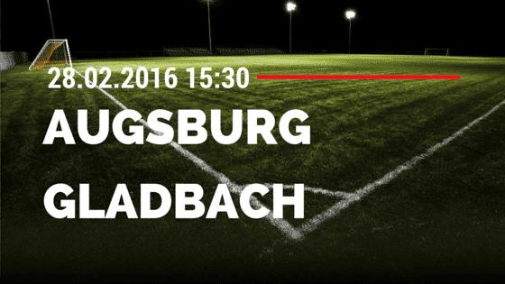 FC Augsburg - Borussia M'gladbach 28.02.2016 Tipp
