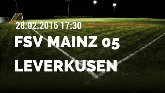 FSV Mainz 05 - Bayer 04 Leverkusen 28.02.2016 Tipp