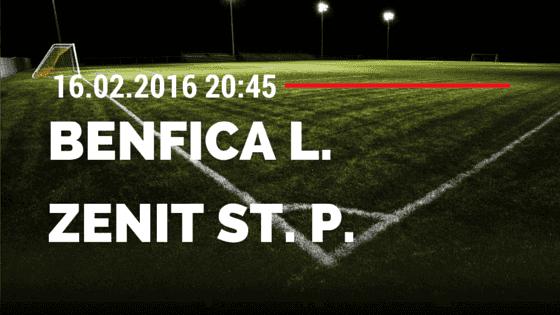 Benfica Lissabon – Zenit St. Petersburg 16.02.2016 Tipp