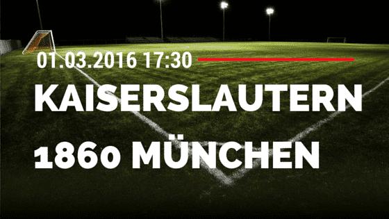 1. FC Kaiserslautern – TSV 1860 München 01.03.2016 Tipp