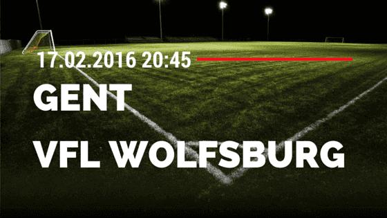 KAA Gent - VfL Wolfsburg 17.02.2016 Tipp