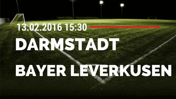 SV Darmstadt 98 - Bayer 04 Leverkusen 13.02.2016 Tipp