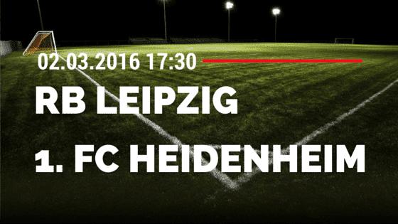 RB Leipzig – 1. FC Heidenheim 02.03.2016 Tipp