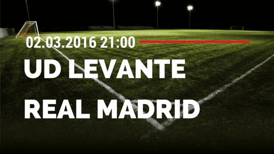 UD Levante – Real Madrid 02.03.2016 Tipp