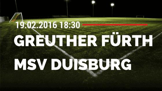 SpVgg Greuther Fürth – MSV Duisburg 19.02.2016 Tipp