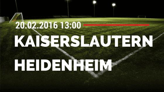 1. FC Kaiserslautern – 1. FC Heidenheim 20.02.2016 Tipp