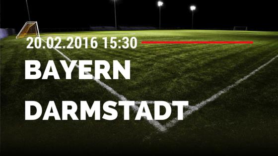 FC Bayern München - SV Darmstadt 98 20.02.2016 Tipp