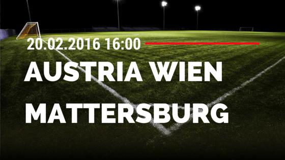 FK Austria Wien – SV Mattersburg 20.02.2016 Tipp
