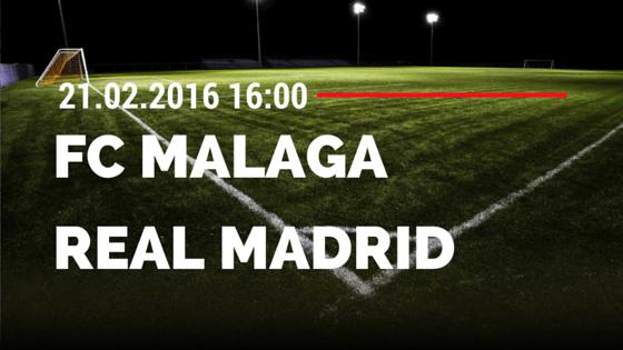 FC Malaga – Real Madrid 21.02.2016 Tipp