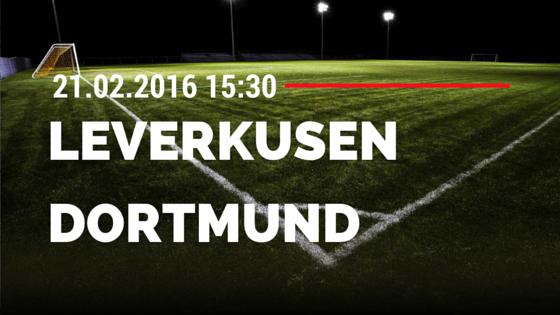 Bayer 04 Leverkusen - Borussia Dortmund 21.02.2016 Tipp
