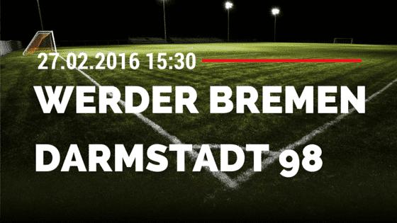SV Werder Bremen - SV Darmstadt 98 27.02.2016 Tipp