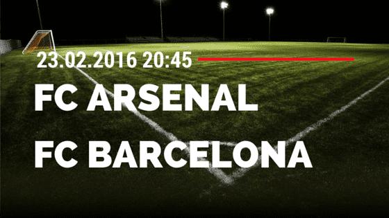 FC Arsenal – FC Barcelona 23.02.2016 Tipp