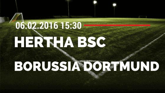 Hertha BSC Berlin - Borussia Dortmund 05.02.2016 Tipp