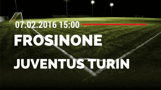 Frosinone Calcio – Juventus Turin 07.02.2016 Tipp