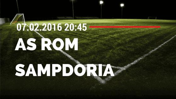 AS Rom – Sampdoria Genua 07.02.2016 Tipp