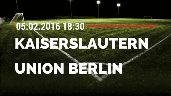 1. FC Kaiserslautern – 1. FC Union Berlin 05.02.2016 Tipp