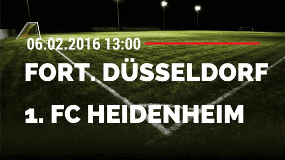 Fortuna Düsseldorf – 1. FC Heidenheim 06.02.2016 Tipp