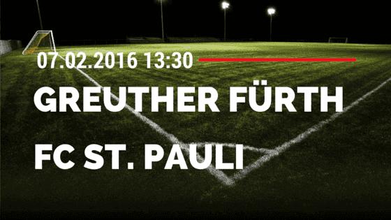 SpVgg Greuther Fürth - FC St. Pauli 07.02.2016 Tipp