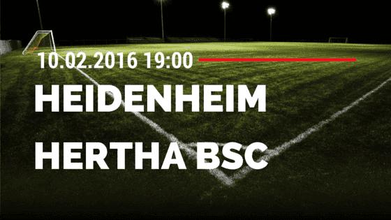 1. FC Heidenheim - Hertha BSC Berlin DFB Pokal 10.02.2016 Tipp